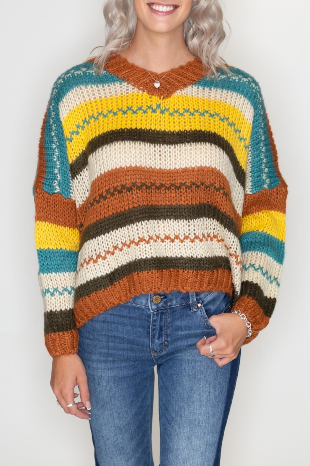 Timing Autumn Striped Sweater - Main Image