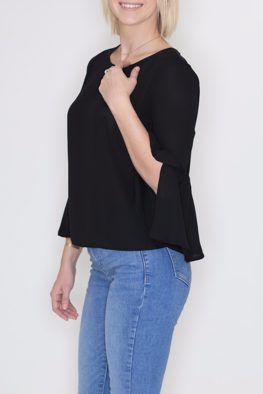 Timing Bell Sleeve Blouse - Front Full Image