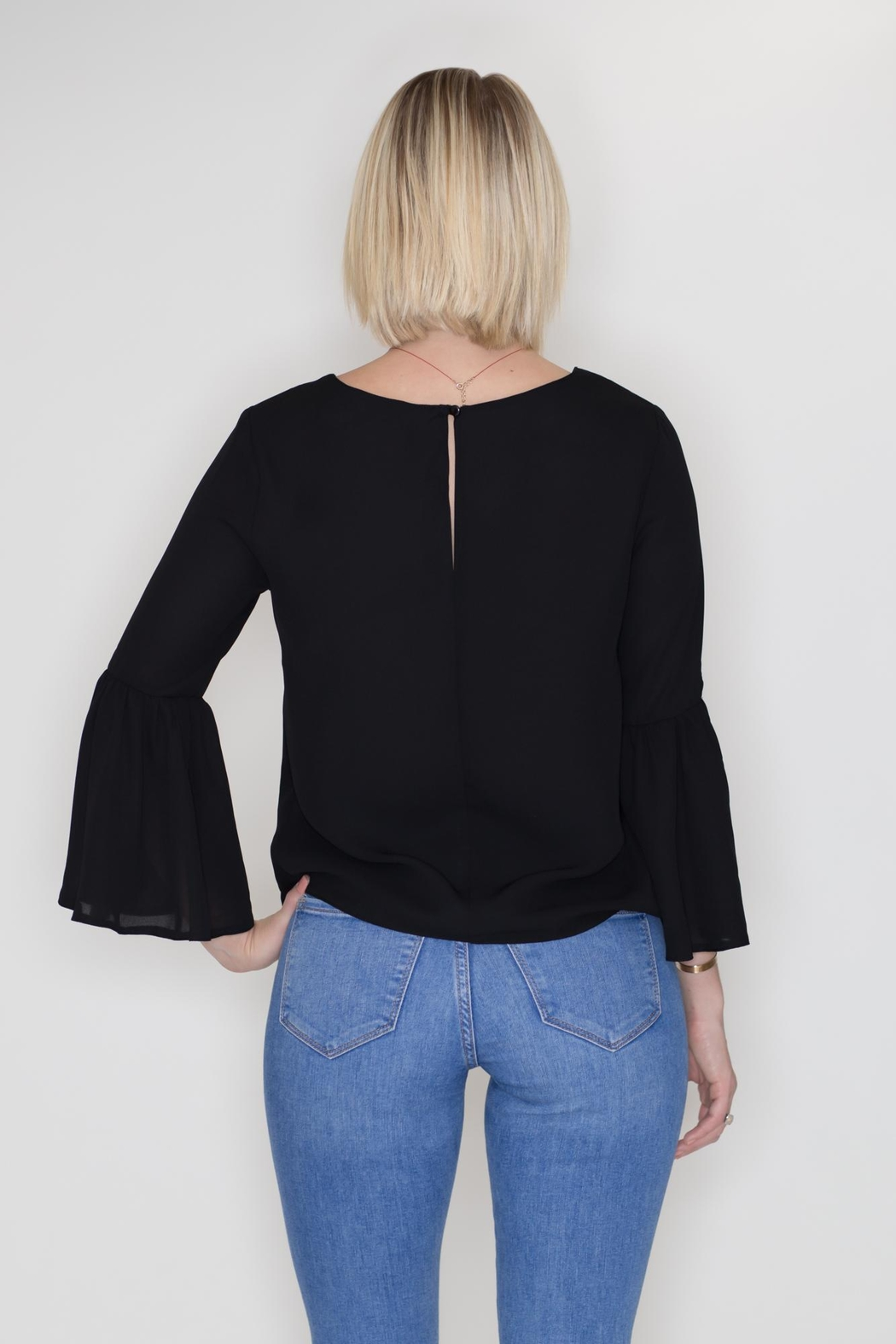 Timing Bell Sleeve Blouse - Side Cropped Image
