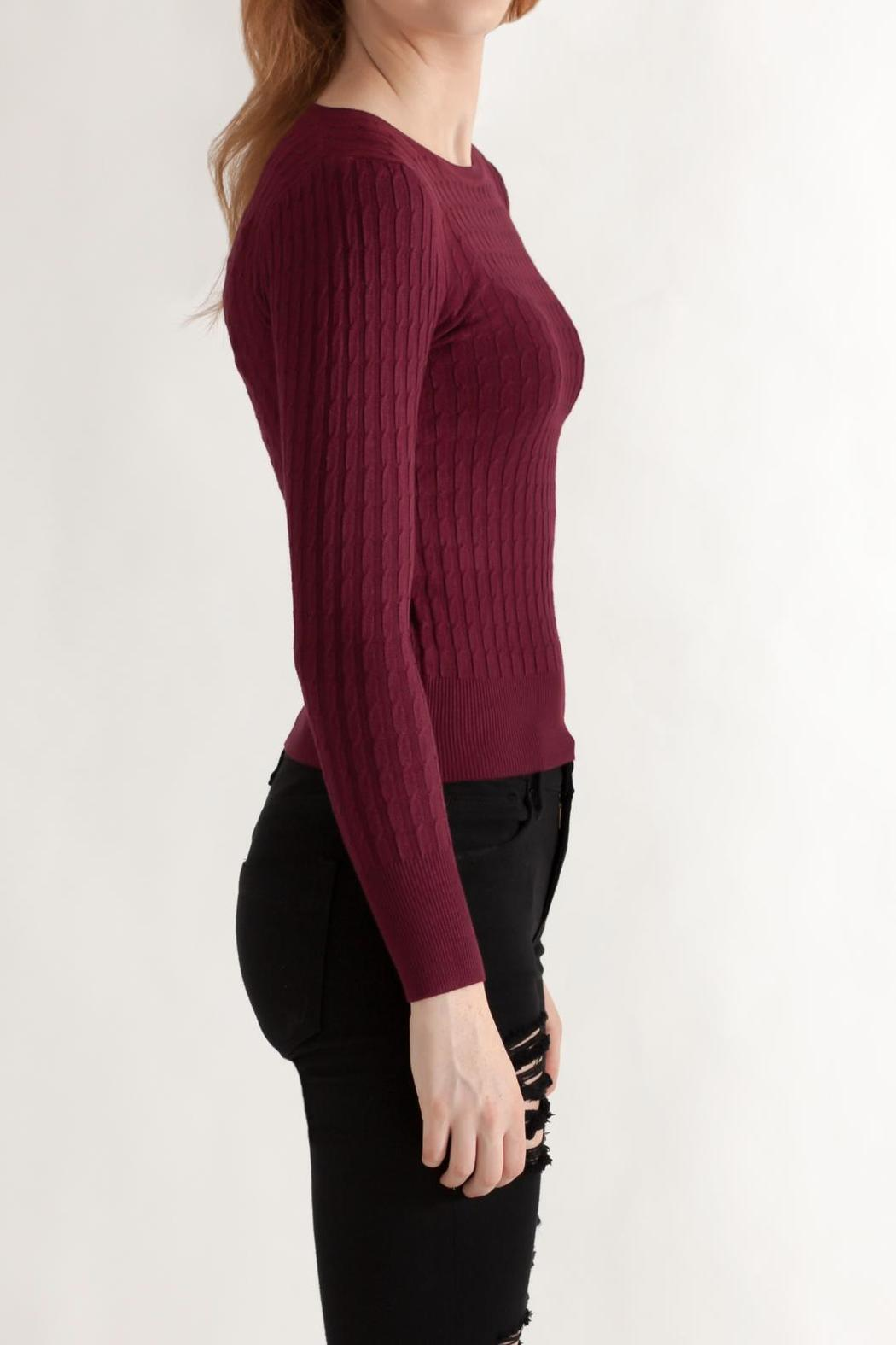 Timing Cable Knit Sweater - Side Cropped Image