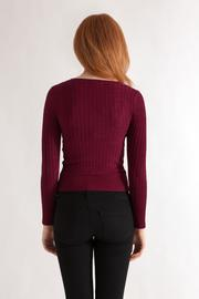 Timing Cable Knit Sweater - Back cropped