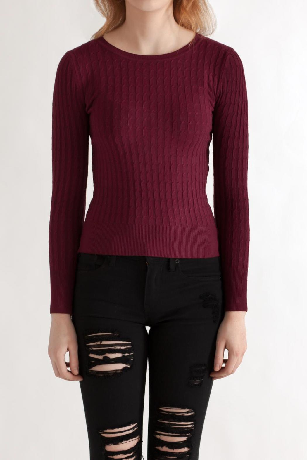 Timing Cable Knit Sweater - Main Image