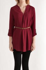 Timing Challis Belted Shirt - Front cropped