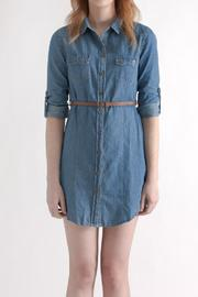 Timing Chambray Shirt Dress - Product Mini Image