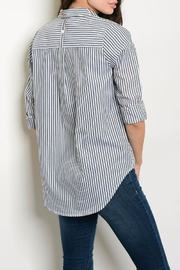 Timing Charcoal Stripe Blouse - Front full body