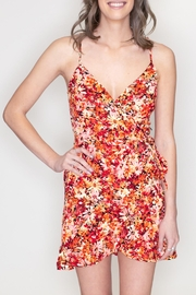 Timing Floral Surplice Dress - Front full body