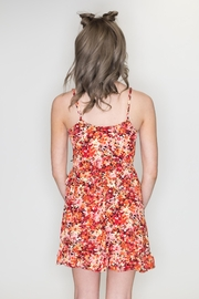 Timing Floral Surplice Dress - Back cropped