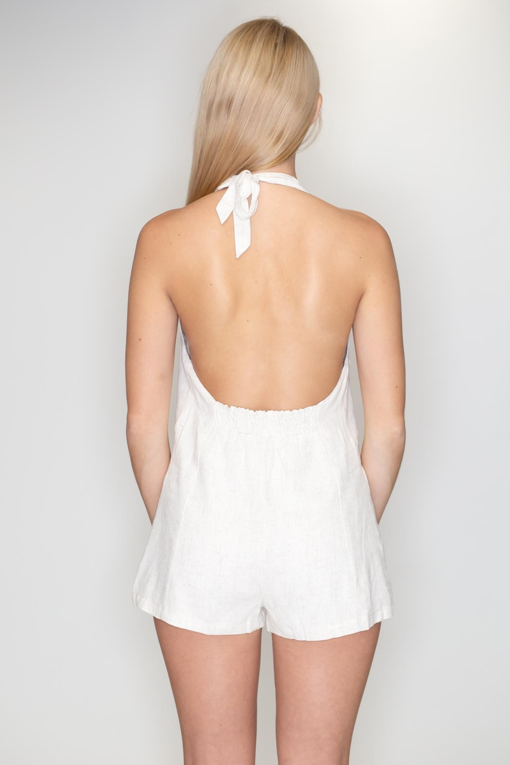 Timing Halter Romper - Back Cropped Image