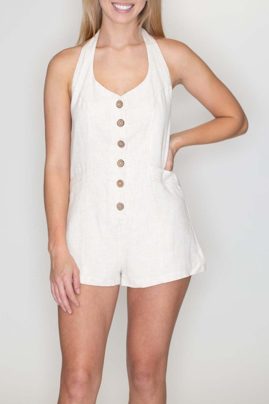 Timing Halter Romper - Front Full Image