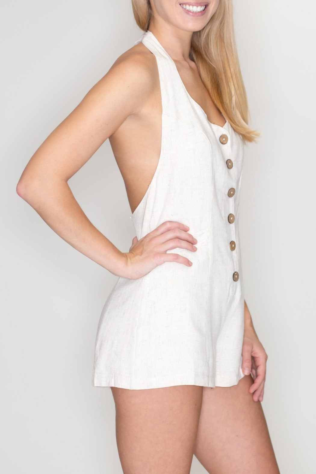 Timing Halter Romper - Side Cropped Image