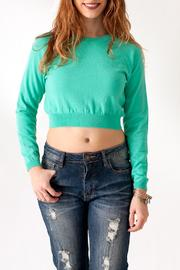 Timing Jade Crop Sweater - Front cropped