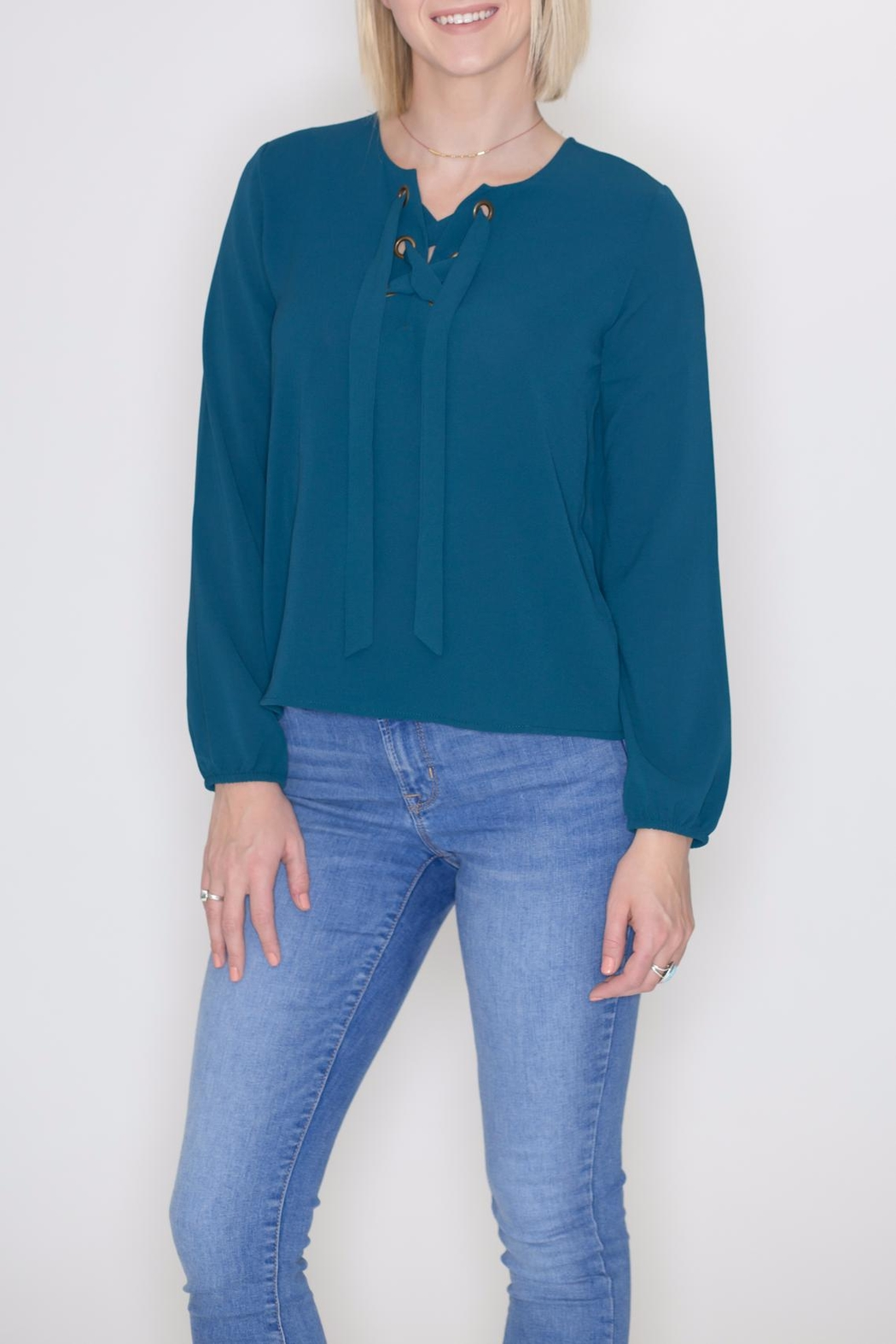 Timing Lace-Up Grommet Top - Main Image
