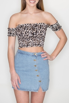 Timing Leopard Crop Top - Product List Image
