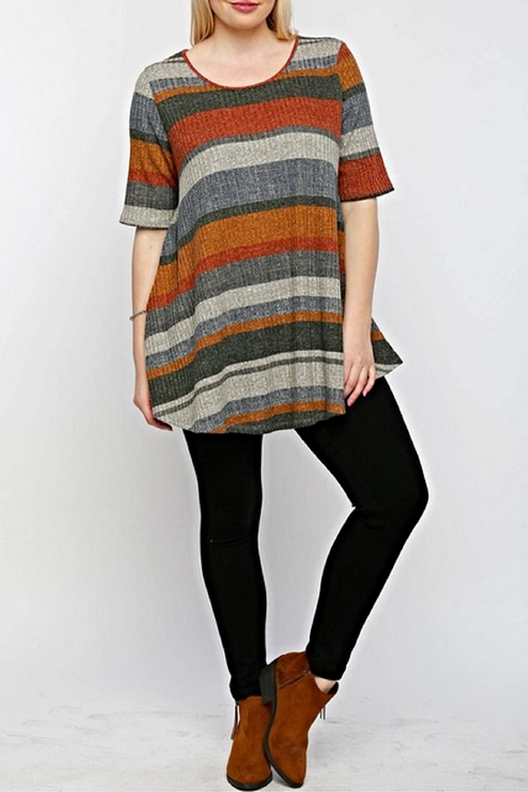 Timing Multicolored Pocketed Top - Main Image