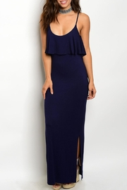Timing Navy Strap Maxi Dress - Front cropped