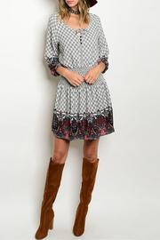 Timing Paisley Empire Dress - Product Mini Image