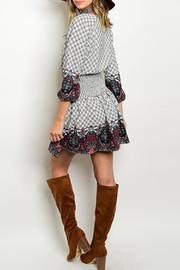 Timing Paisley Empire Dress - Front full body