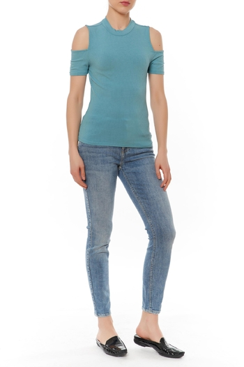 Shoptiques Product: Ribbed Fitted Top - main