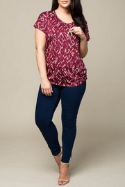Timing Ruched Print Top - Product Mini Image