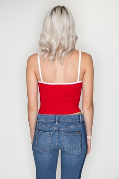 Timing Striped Crop Top - Alternate List Image