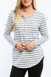 Timing Striped Henley Top - Product Mini Image