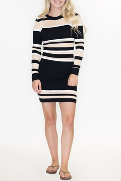 Timing Striped Sweater Dress - Product List Image