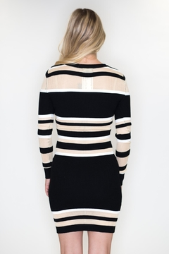Timing Striped Sweater Dress - Alternate List Image