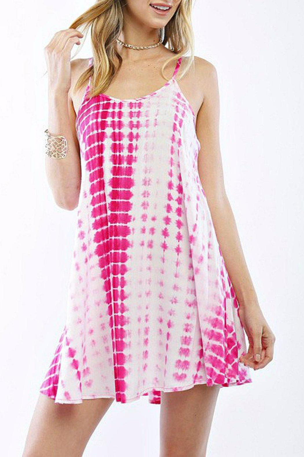 Timing Tie-Dye Cami Dress - Front Cropped Image