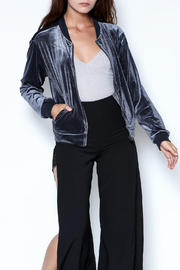 Timing Velvet Bomber Jacket - Front cropped