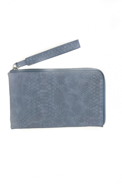 Shoptiques Product: Tina Python Zip Around Wristlet