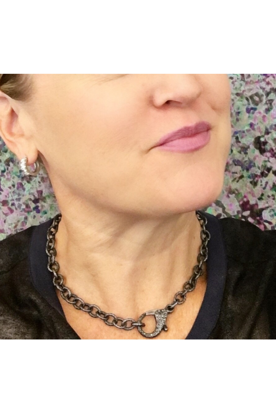 Love, Lisa Tina's Everyday Pave Clasp Necklace - Front Full Image