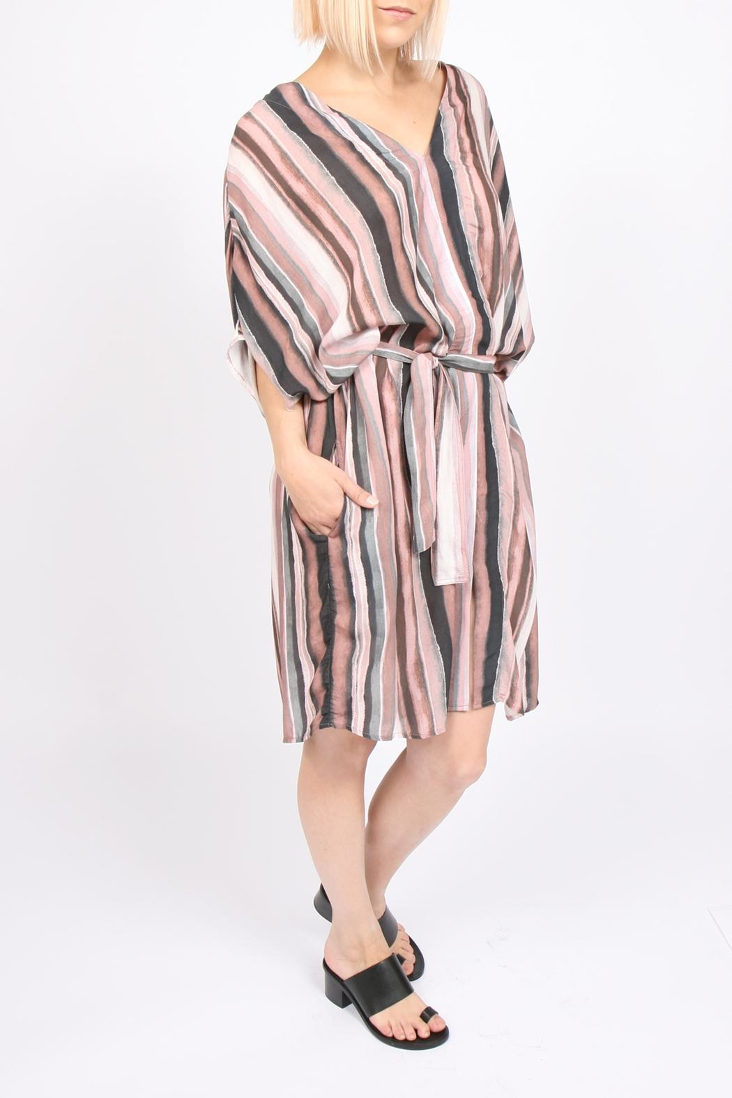 Tina + Jo Sadona Stripe Kaftan-Dress - Side Cropped Image
