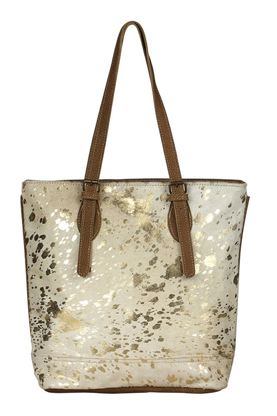Myra Bags Tinges Cowhide Leather Tote Bag - Front Full Image