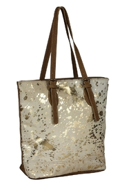 Myra Bags Tinges Cowhide Leather Tote Bag - Front cropped