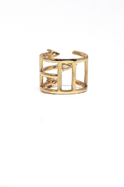 TINK TINK Adjustable Gold Plated Ring - Front full body