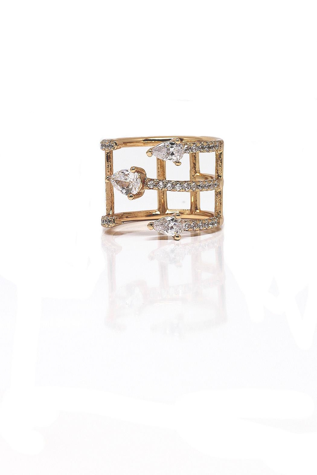 TINK TINK Adjustable Gold Plated Ring - Main Image