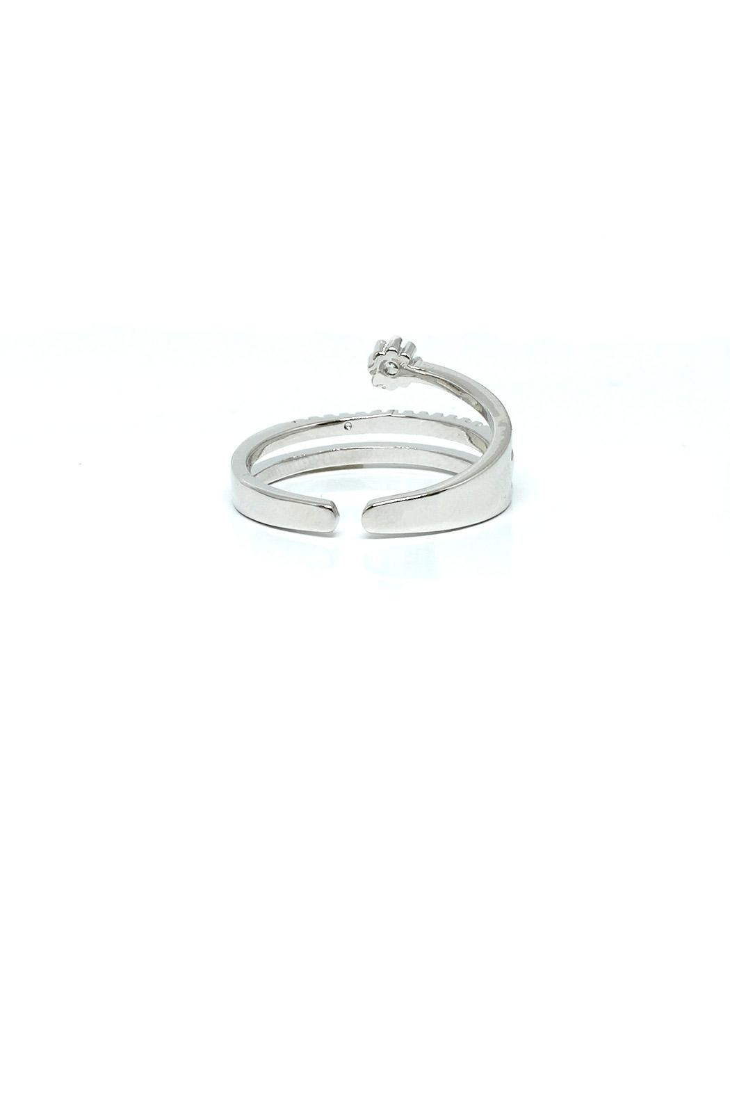 TINK TINK Adjustable Rhodium Ring - Front Full Image