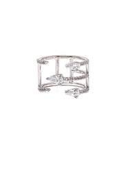 TINK TINK Adjustable Rhodium Ring - Product Mini Image