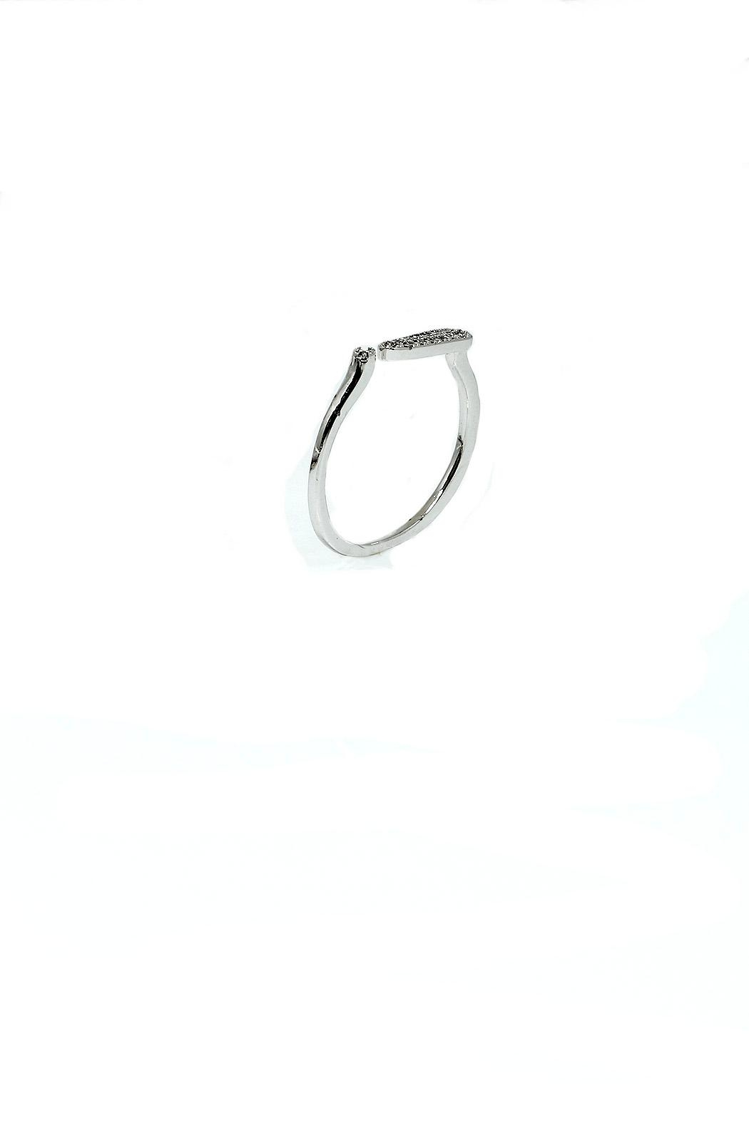 TINK TINK Delicate Rhodium Ring - Front Full Image