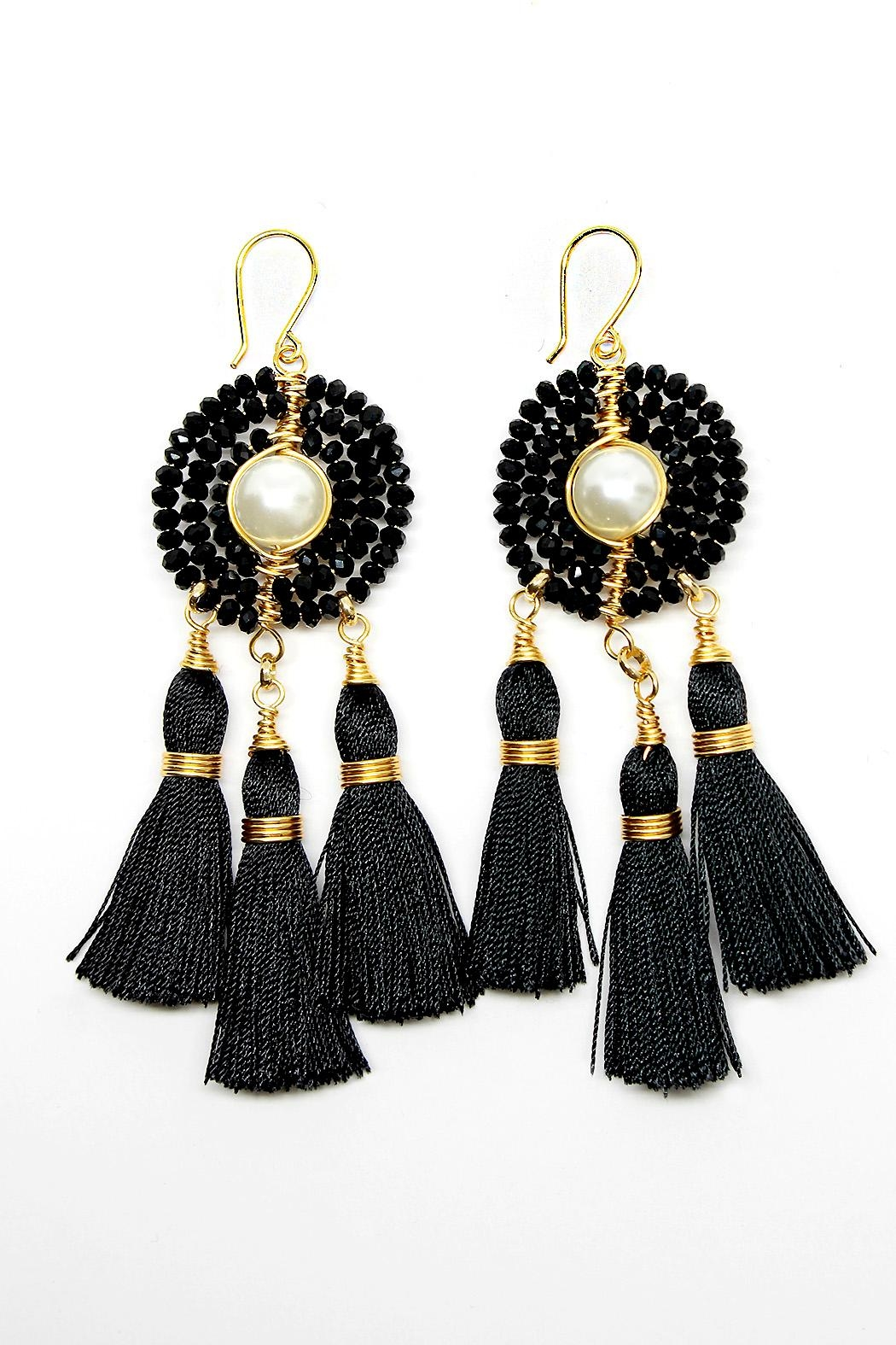 TINK TINK Black Dream Catcher Earrings - Main Image