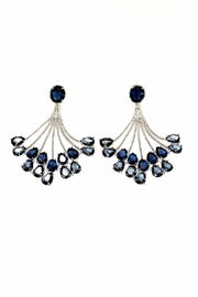 TINK TINK Blue Chandelier Earrings - Front cropped
