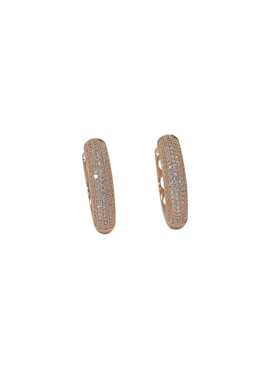 TINK TINK Circular Gold Plated Earrings - Front Cropped Image