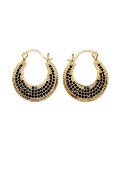 Shoptiques Product: Circular Gold Plated Earrings