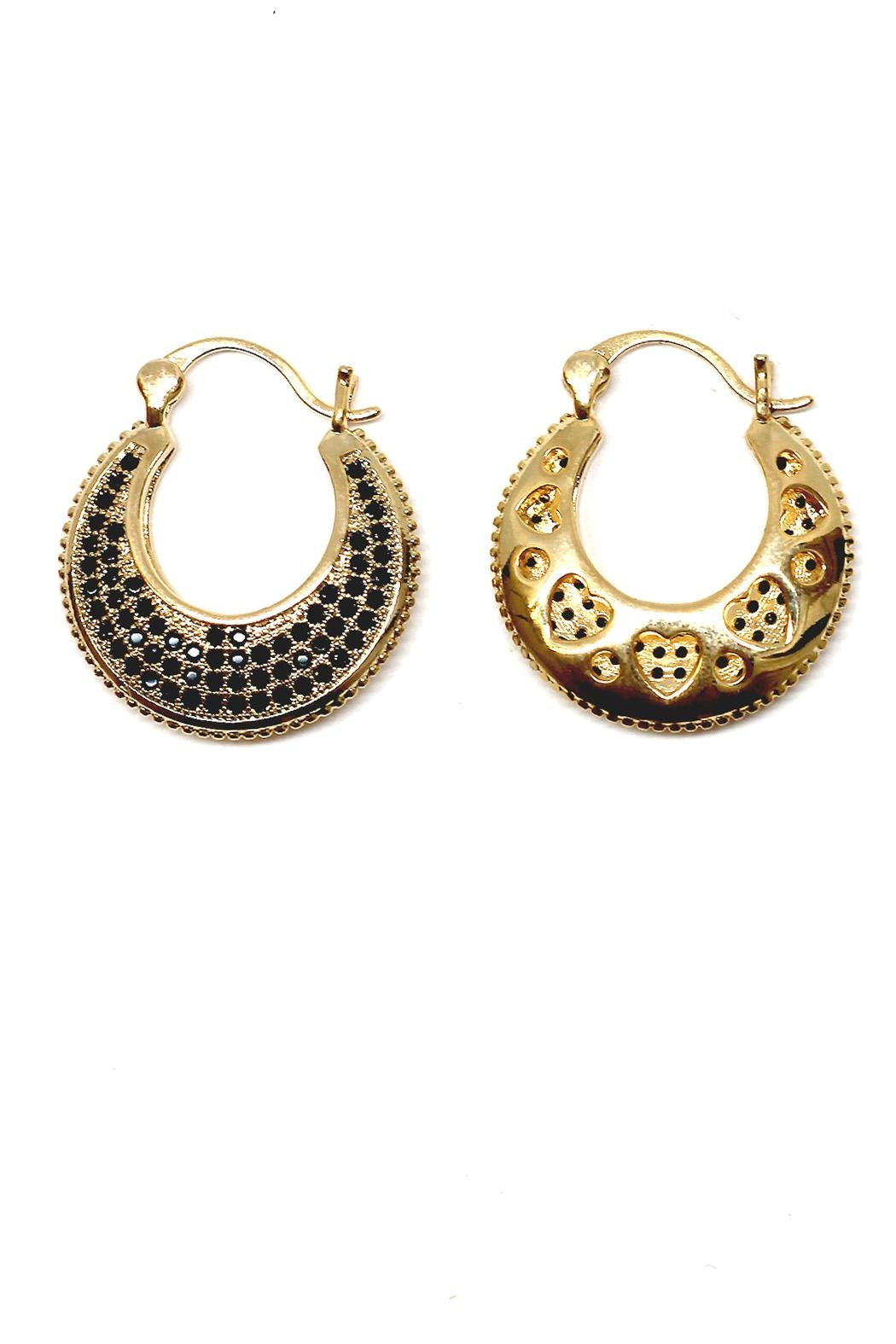 TINK TINK Circular Gold Plated Earrings - Front Full Image
