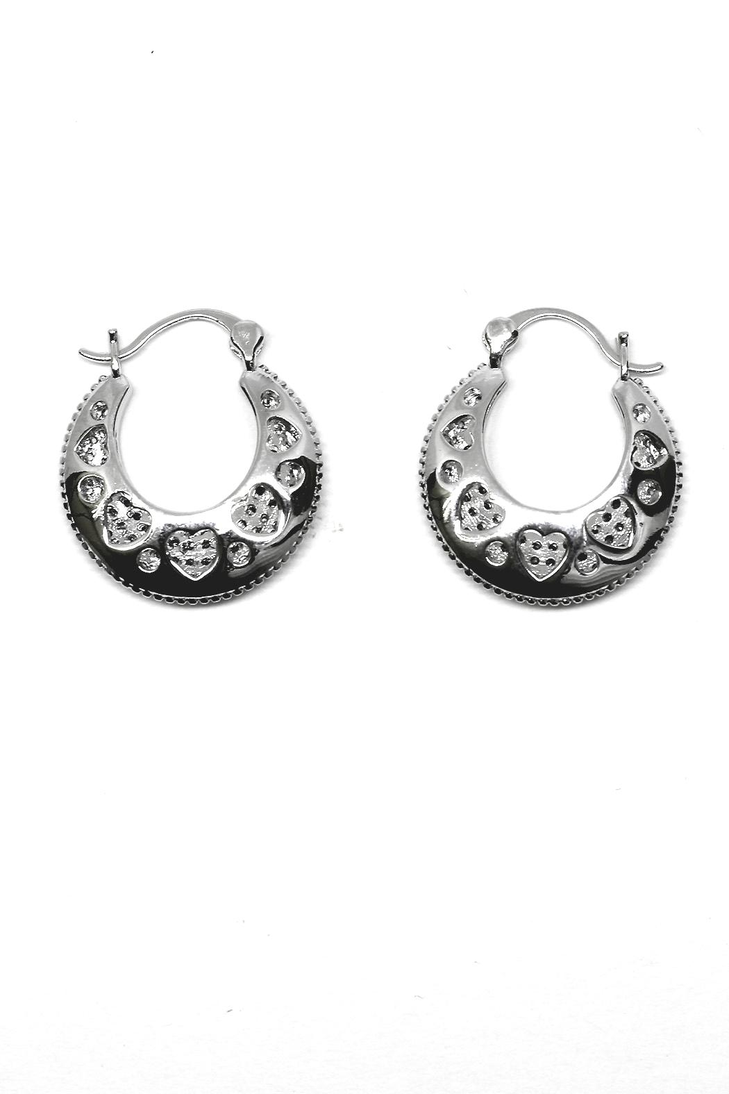 TINK TINK Circular Hoops Earrings - Front Full Image