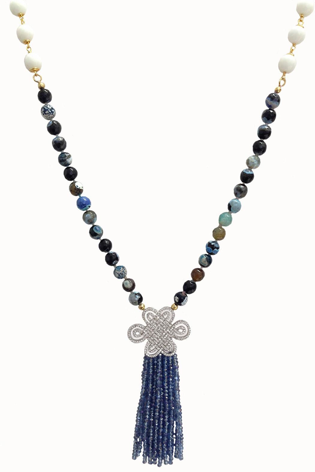 TINK TINK Crystal Tassel Necklace - Main Image