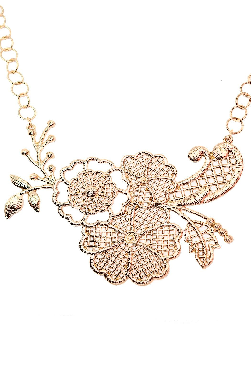 TINK TINK Flower Statement Necklace - Main Image