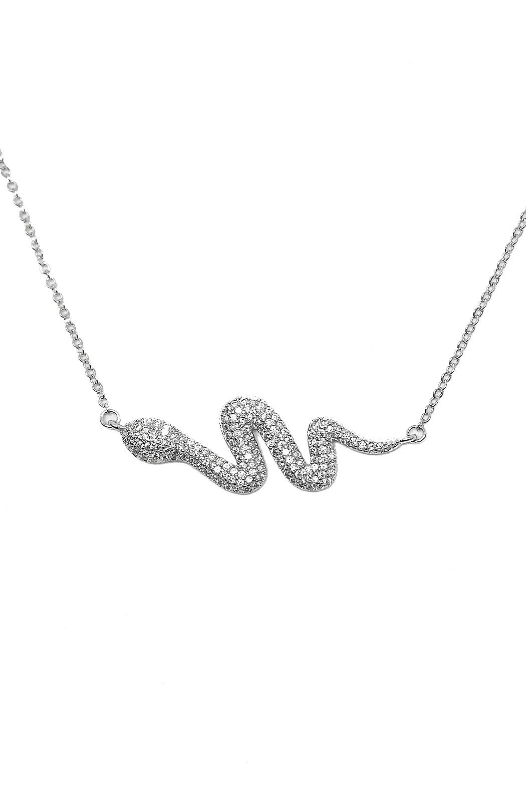 TINK TINK Glamorous Silver Snake Necklace - Main Image