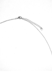 TINK TINK Glamorous Silver Snake Necklace - Front full body