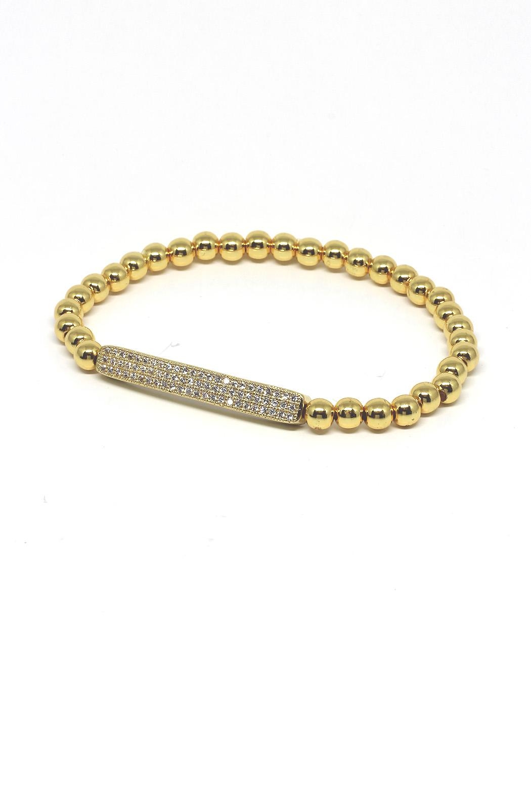 TINK TINK Golden Beads Bracelet - Main Image